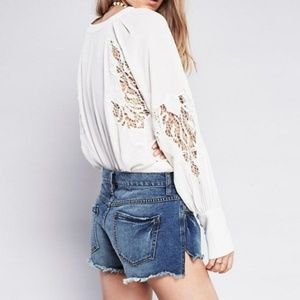 Fre People Runaway Distressed Slouch Cutoffs 27